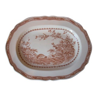 English Transferware Serving Platter For Sale