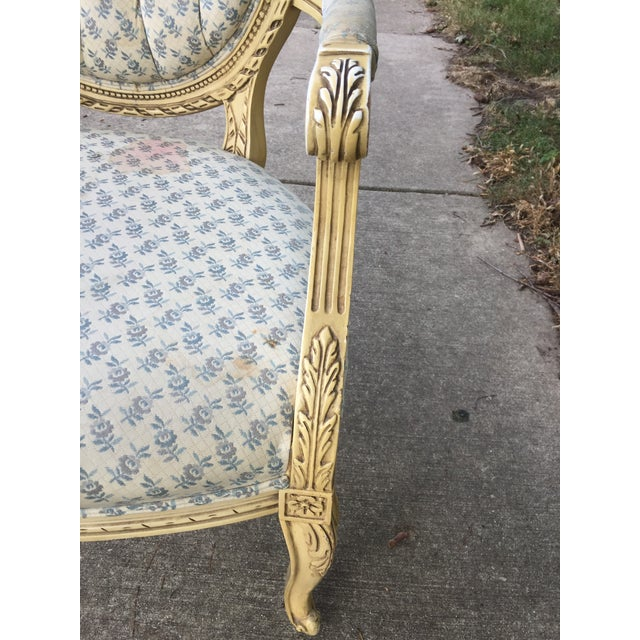 1940s 1940s Vintage Upholstered Armchair For Sale - Image 5 of 9