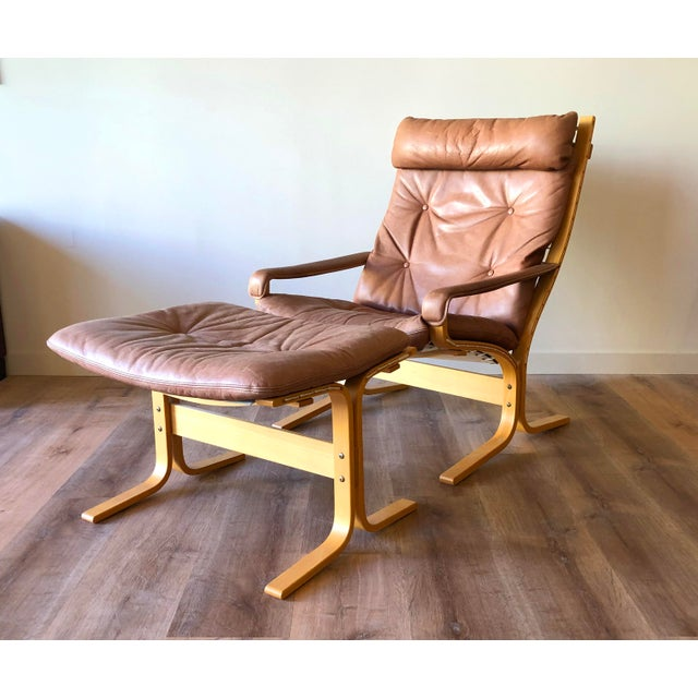 Ingmar Relling for Westnofa Mid-Century Modern Leather Siesta Chair With Ottoman For Sale - Image 13 of 13