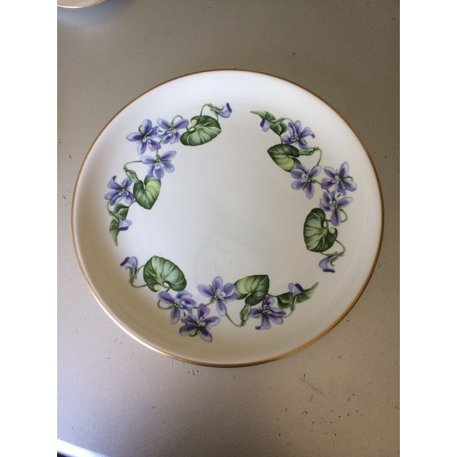 Vintage Franciscan China Olympic with Purple Violet Flowers - Set of 12 - Image 3 of 7