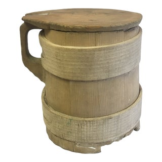 Primitive Pine Sugar Bucket For Sale