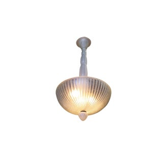 Daum Nancy Style Frosted Glass Art Deco Chandelier For Sale
