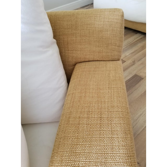 Resort Style Modern Oversized White & Sand Sofa and Chair - Set of 2 For Sale - Image 9 of 13