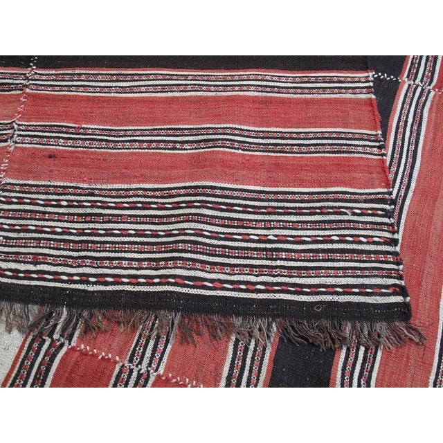 Red Banded Mazanderan Kilim For Sale - Image 8 of 8