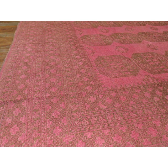 Wild Pink Vintage Tribal Rug, 10'10'' X 13'5'' For Sale - Image 4 of 11