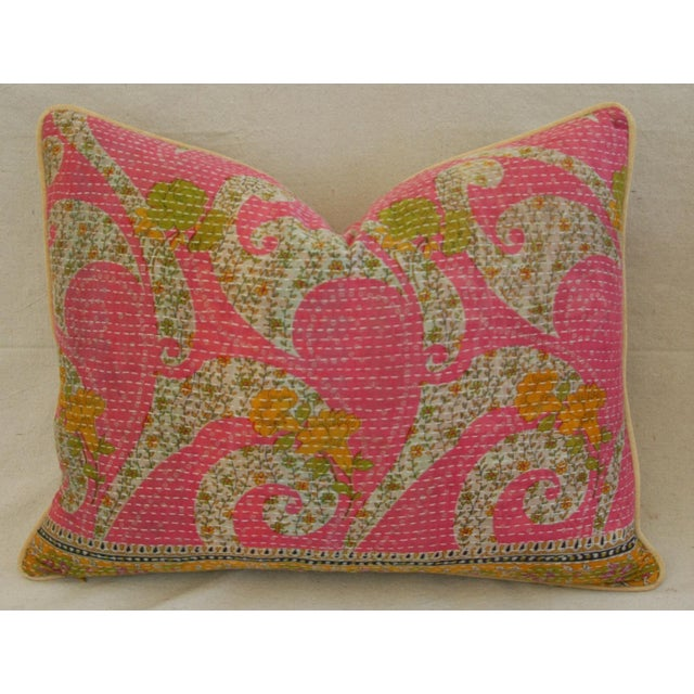 Vintage Kantha Textile Pillows - a Pair - Image 7 of 11