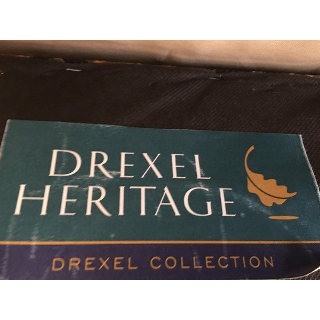 Drexel Heritage Oversized Tufted Chairs & Ottoman For Sale - Image 10 of 11