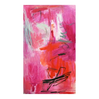 """Stunning Large Abstract Oil Painting by Trixie Pitts """"Morning Joe"""""""