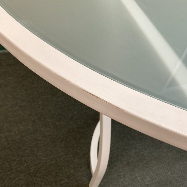 Janus Et Cie Frosted Glass Dining Table For Sale - Image 10 of 11
