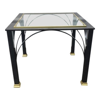 Modern Gunmetal Chrome End Table by Design Institute of America For Sale