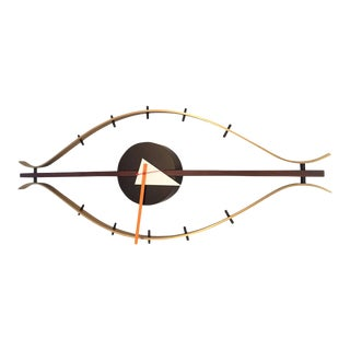 George Nelson Mid-Century Modern Design Wall Clock For Sale