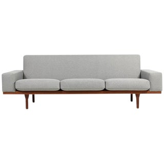 Vintage Mid Century Illum Wikkelso for Soren Willadsen Gray Sofa For Sale