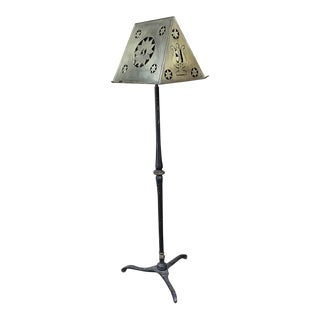 19th Century Wrought Iron & Brass Music Stand For Sale