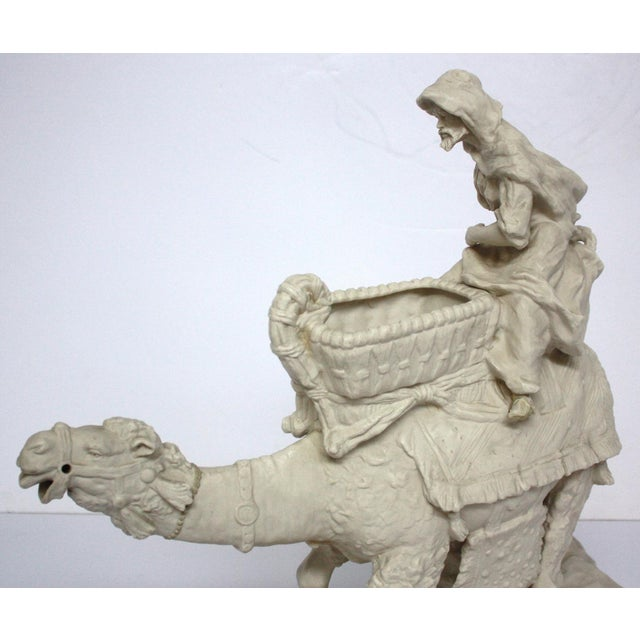 Parian Ware Arabian Camel with Bedouin Rider by Imperial-Amphora / Turn, Austria - Image 8 of 11