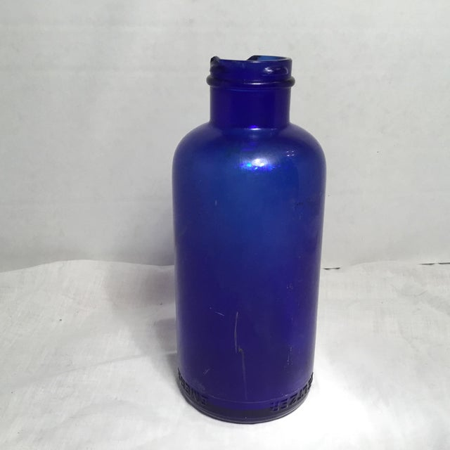 Deep Cobalt Blue Apothecary Bottle For Sale - Image 4 of 11