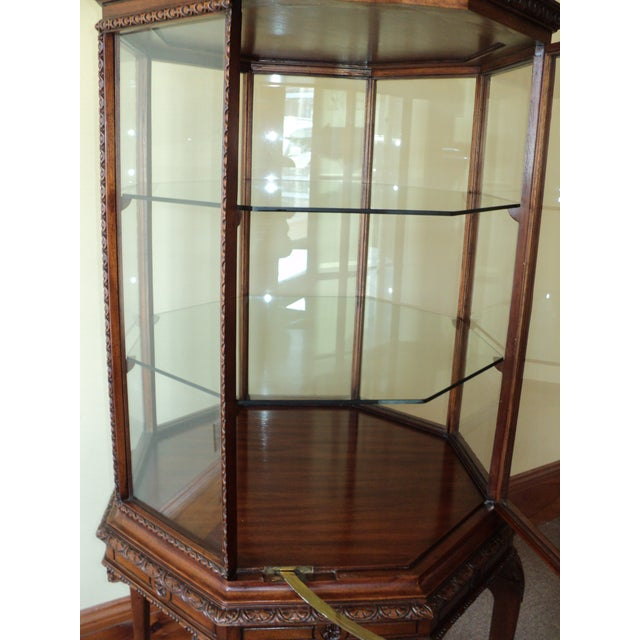 Vintage Octagonal Shaped China/ Display Cabinet For Sale In Saint Louis - Image 6 of 8