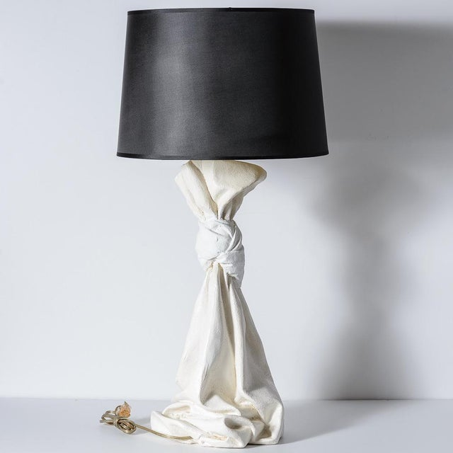 John Dickinson Mid-Century Draped Lamps in the Manner of John Dickinson A-Pair For Sale - Image 4 of 12