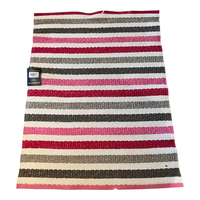 "Swedish Papellina Gray and Pink ""Lisa"" Rug - 2′4″ × 3′ For Sale"