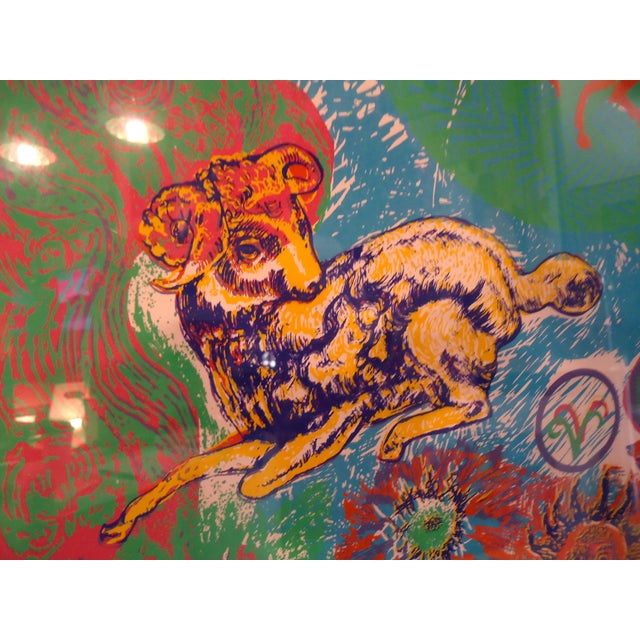 "Vintage Modern Wall Art "" Aries "" For Sale In New York - Image 6 of 11"