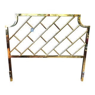 Brass Chinoiserie Style Queen Size Headboard