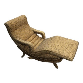 Authentic 1960's Lounger With Rotating Mechanism