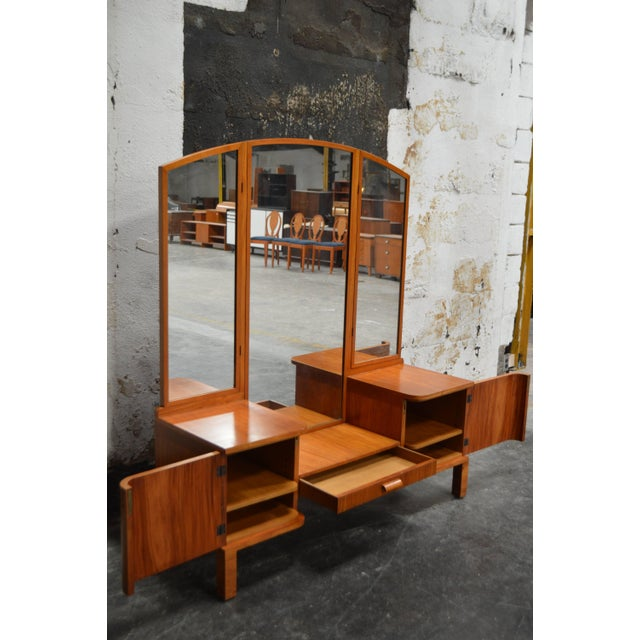 1930s Swedish Art Deco Dressing Table Vanity For Sale - Image 5 of 11