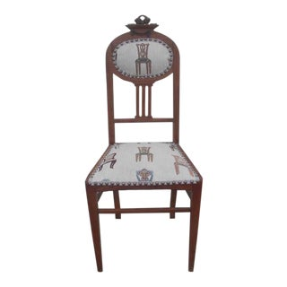 Early 20th Century Antique Miniature Side Chair For Sale