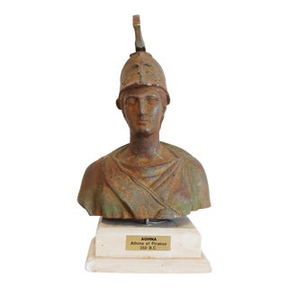 Vintage Bust of Athena For Sale