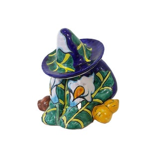 Vintage Talavera Mexican Pottery Sleeping Man Cookie Jar For Sale