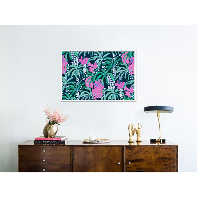 Contemporary Island House 3 by Lulu DK in White Framed Paper, Medium Art Print For Sale - Image 3 of 4