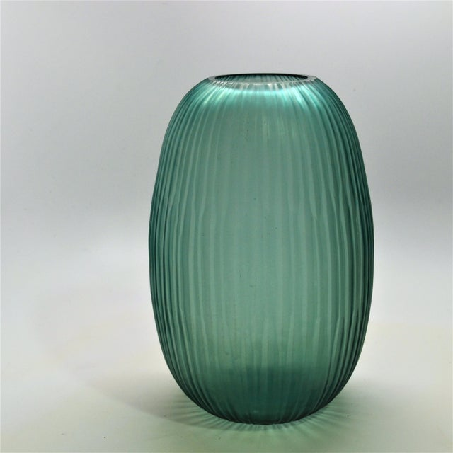 Modern Bungalow 5 Small Gray Blue Moderni Vase For Sale - Image 3 of 9