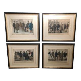 Mens Fashion Original Prints - Set of 4 For Sale