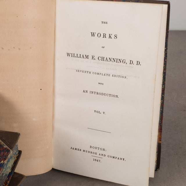 "Leather Bound William Channing's ""Works and Memoirs"" Pub. 1841-1847 For Sale In San Francisco - Image 6 of 10"