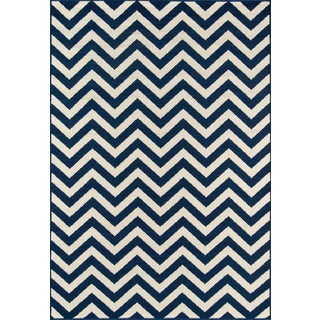 "Momeni Baja Navy Indoor/Outdoor Rug - 7'10"" X 10'10"" For Sale"