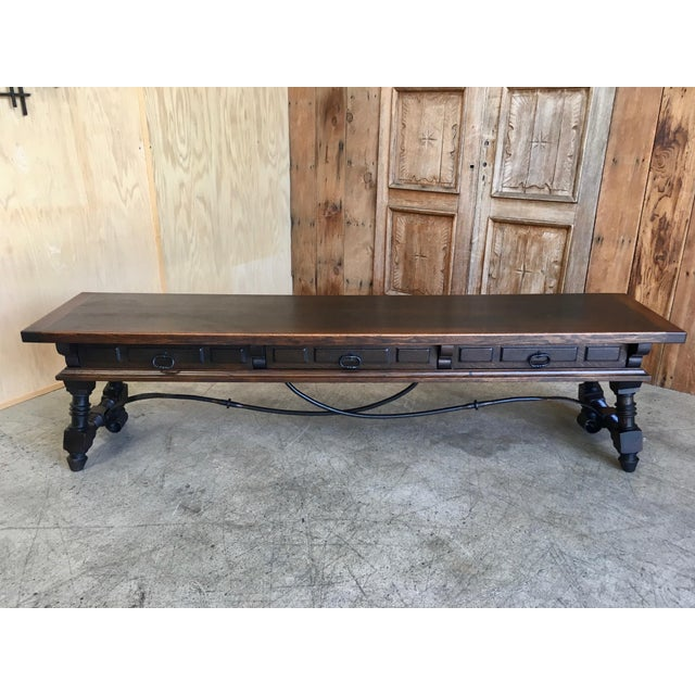 20th Century Spanish Style Console Table Buffet For Sale - Image 13 of 13