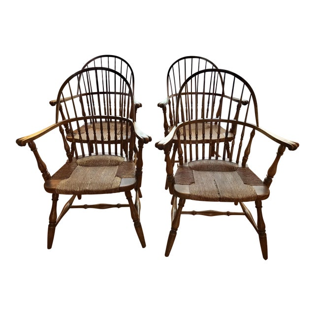 1920 Barnard & Simonds Rochester NY Windsor Chairs - Set of 4 For Sale