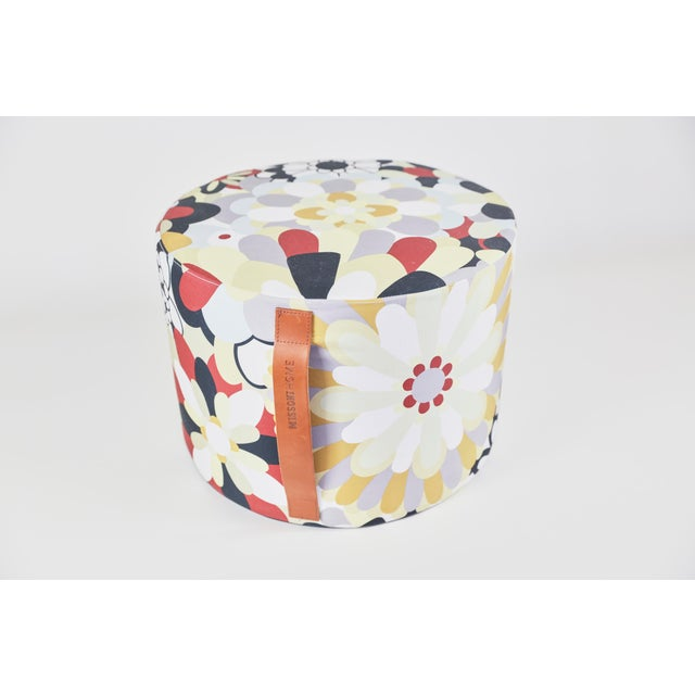 Missoni Home Multicolored Pouf For Sale In New York - Image 6 of 6