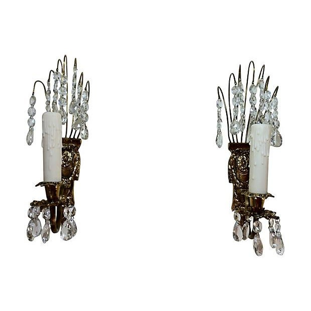 Gustavian Chandelier Sconces - A Pair - Image 3 of 4