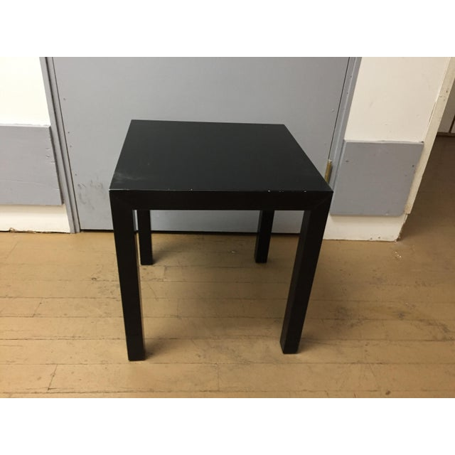 Lacquer Vintage 1970's Black Lacquer Occasional Tables - Set of 3 For Sale - Image 7 of 12