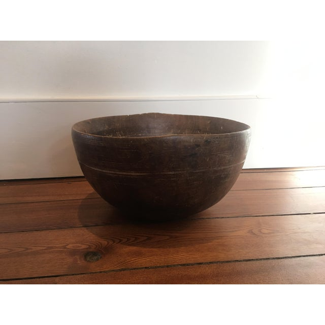 19th Century 19th Century Antique Burl Wood Bowl For Sale - Image 5 of 7
