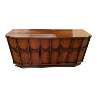 1960s Mid-Century Modern Kent Coffey Perspecta Walnut & Rosewood Sideboard For Sale
