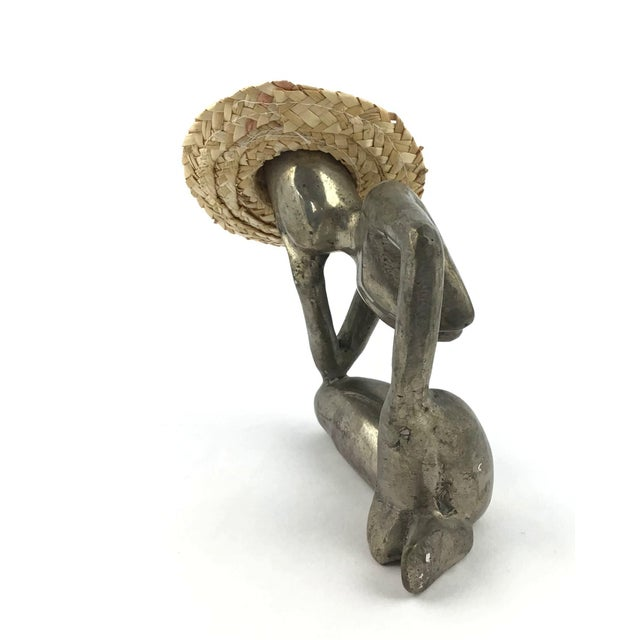 """Abstract """"Man in Mid Air"""" Modern Metal Artisanal Sculpture For Sale - Image 3 of 12"""
