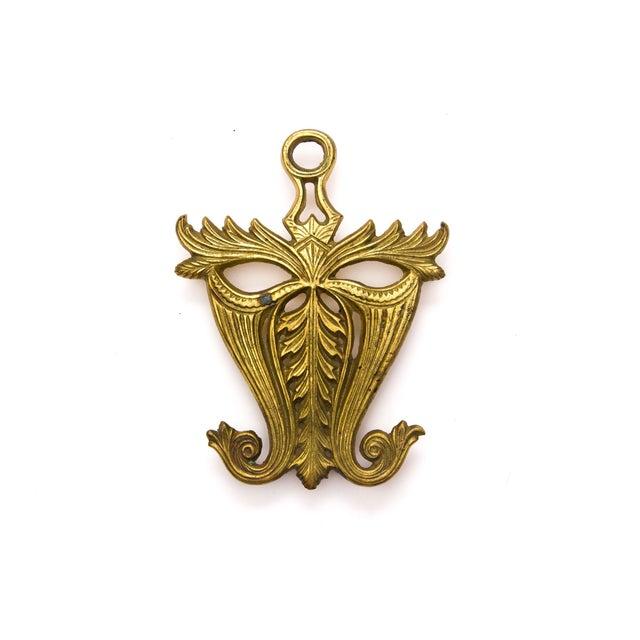 Vintage Brass Mask Trivet - Image 5 of 5