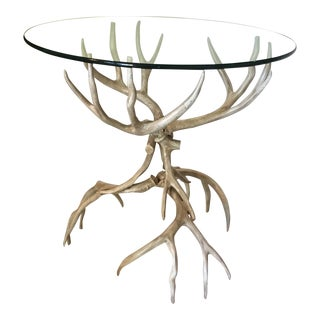 Mid Century Modern Arthur Court Aluminum Horn Table