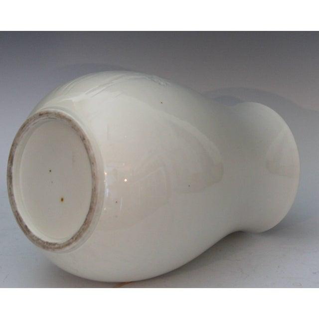 1900 - 1909 Antique Japanese Carved Studio Blanc De Chine Porcelain Vase For Sale - Image 5 of 11