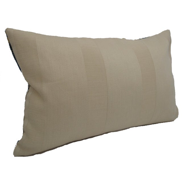 Luigi Bevilacqua of Milan Blue Art Deco Velvet Lumbar Pillows - a Pair For Sale - Image 10 of 12