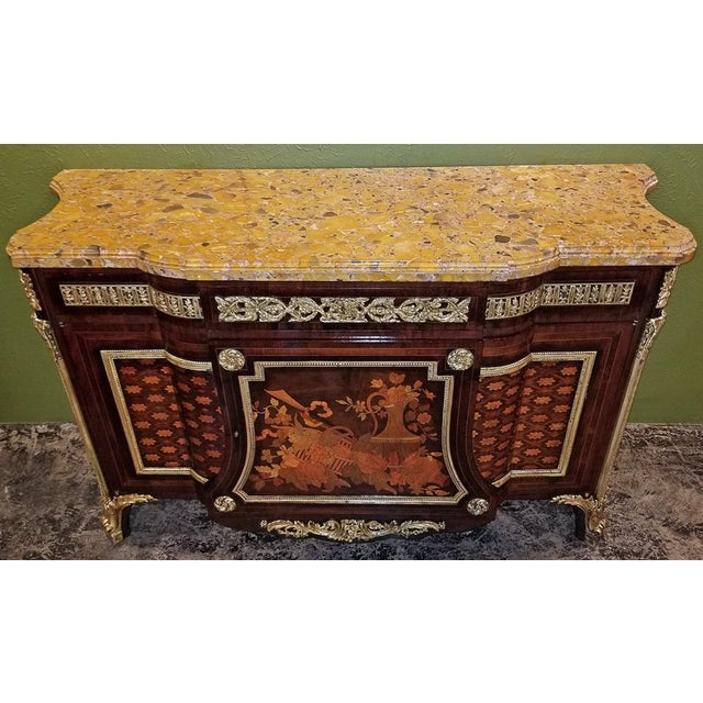 Metal 19th Century Louis XVI Commode After Reisener For Sale - Image 7 of 13