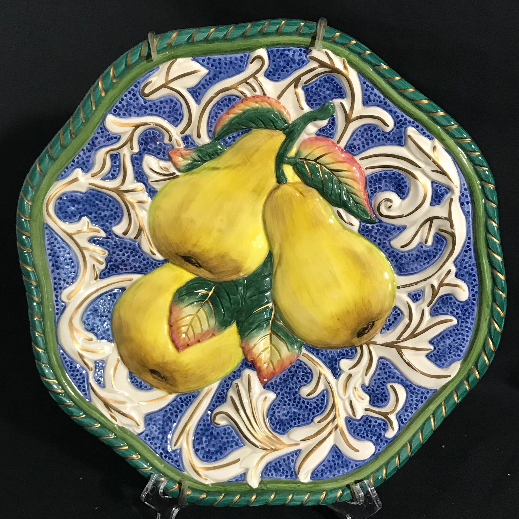 Fitz u0026 Floyd Florentine Fruit Canapé Wall Plates - Set of 3 - Image 5 of  sc 1 st  Chairish & Fitz u0026 Floyd Florentine Fruit Canapé Wall Plates - Set of 3 | Chairish