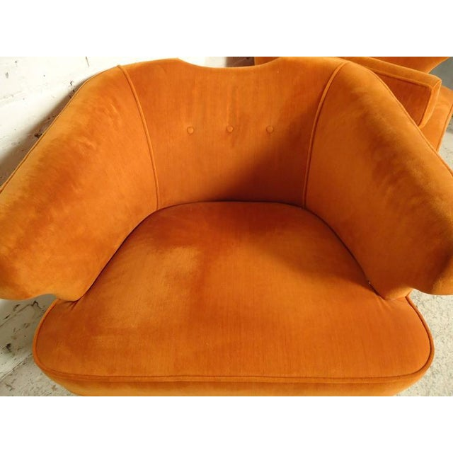 Rare Mid-Century Barrel Back Armchairs - A Pair For Sale In New York - Image 6 of 7