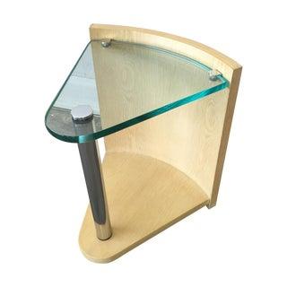 Jay Spectre Cerused Oak Triangle Table
